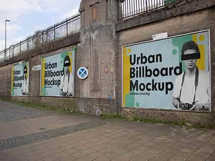 Urban Billboards Mockup
