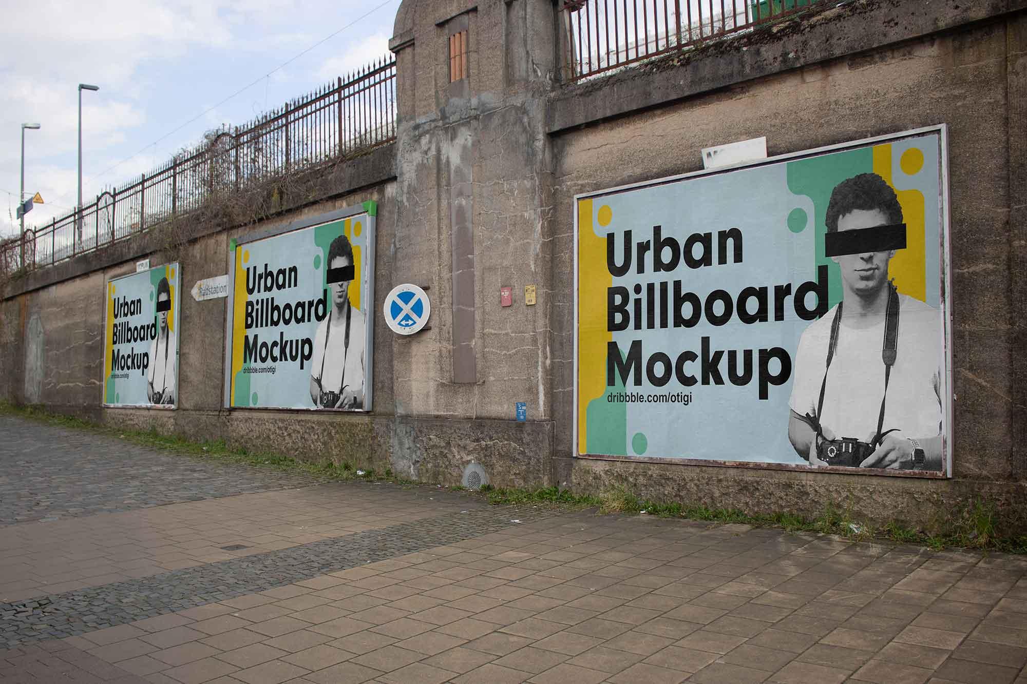 Urban Billboards Mockup
