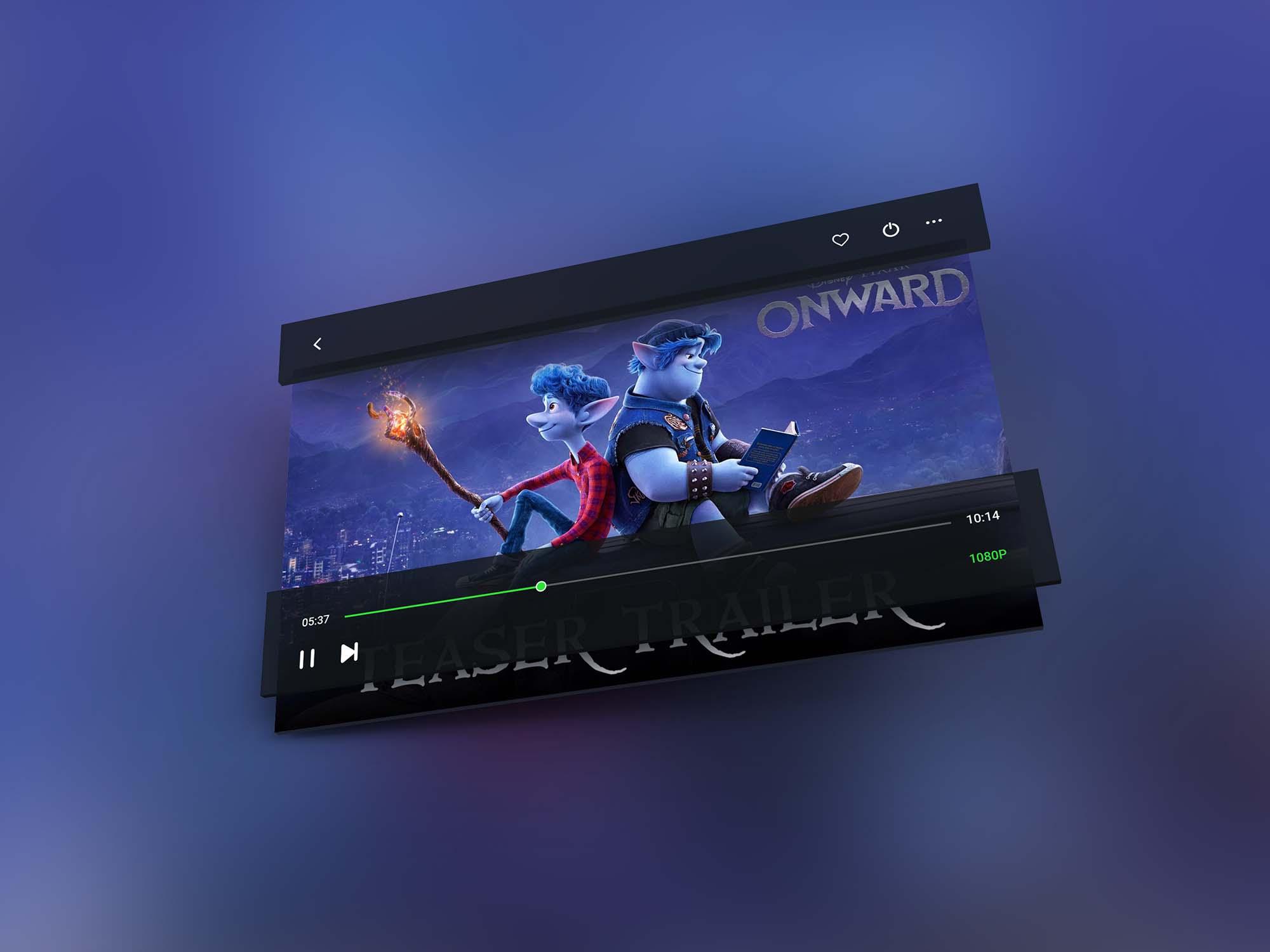 Video Player Mockup 2