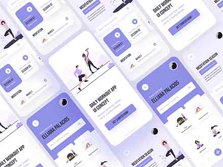 Work Out Fitness App Template