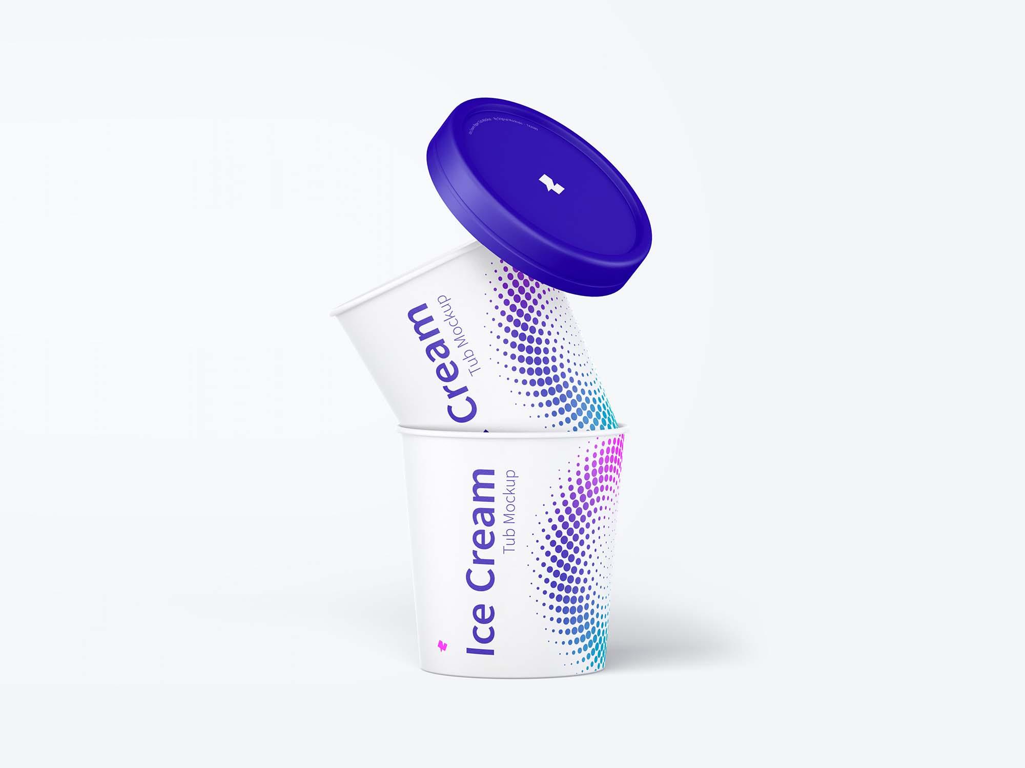 ce Cream Paper Tub Mockup