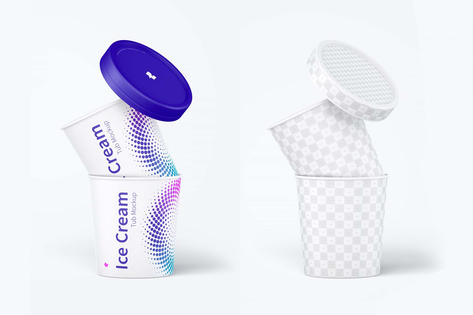 ce Cream Paper Tub Mockup 3
