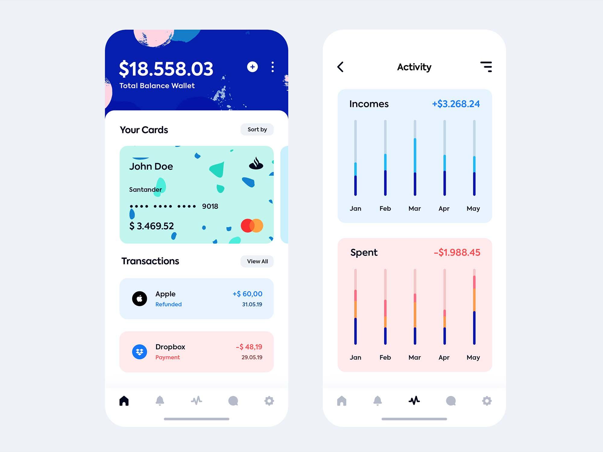 iOS Wallet App Template