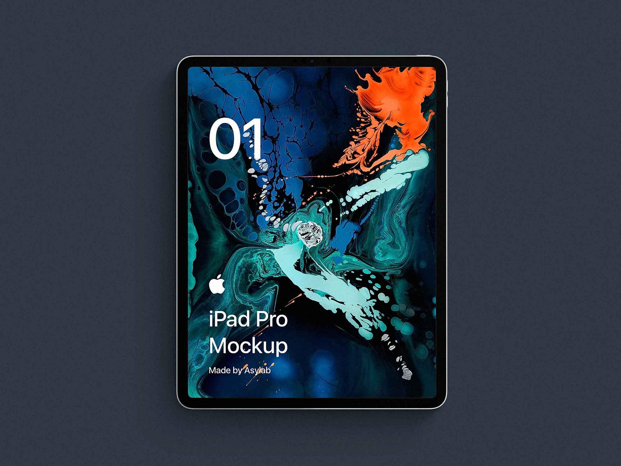iPad Pro Front Mockup