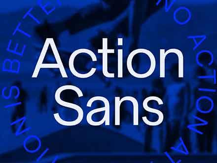 Action Geometric Sans Font