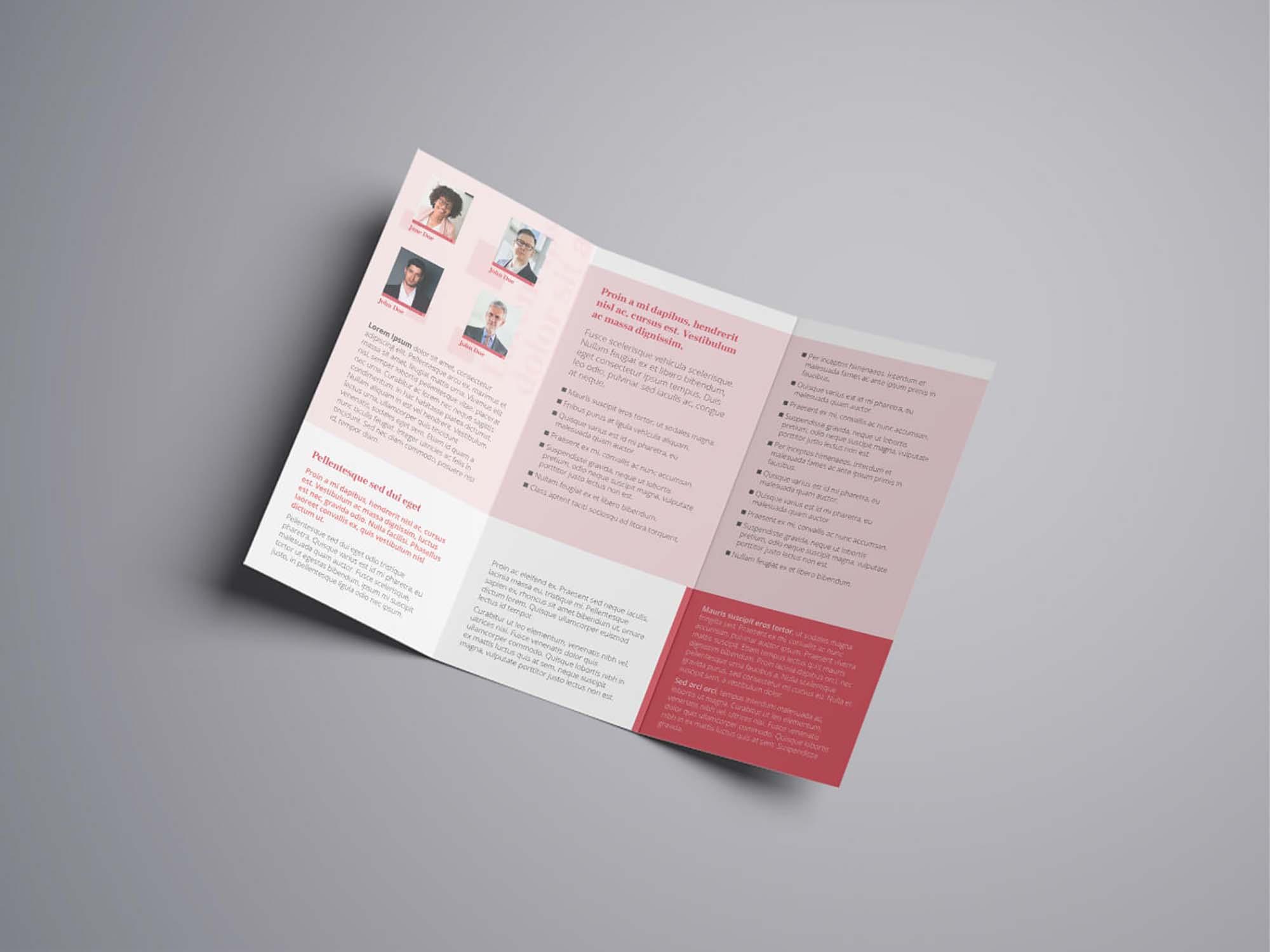 Attorney & Law Tri fold-Brochure Template 2