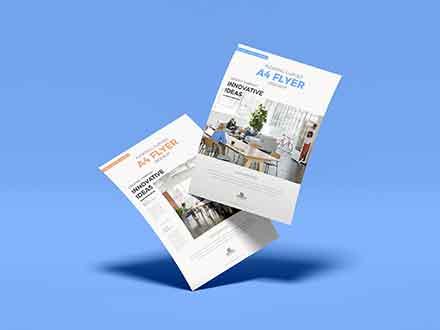 Branding A4 Flyer Mockup
