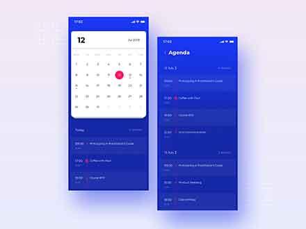 Calendar UI Template