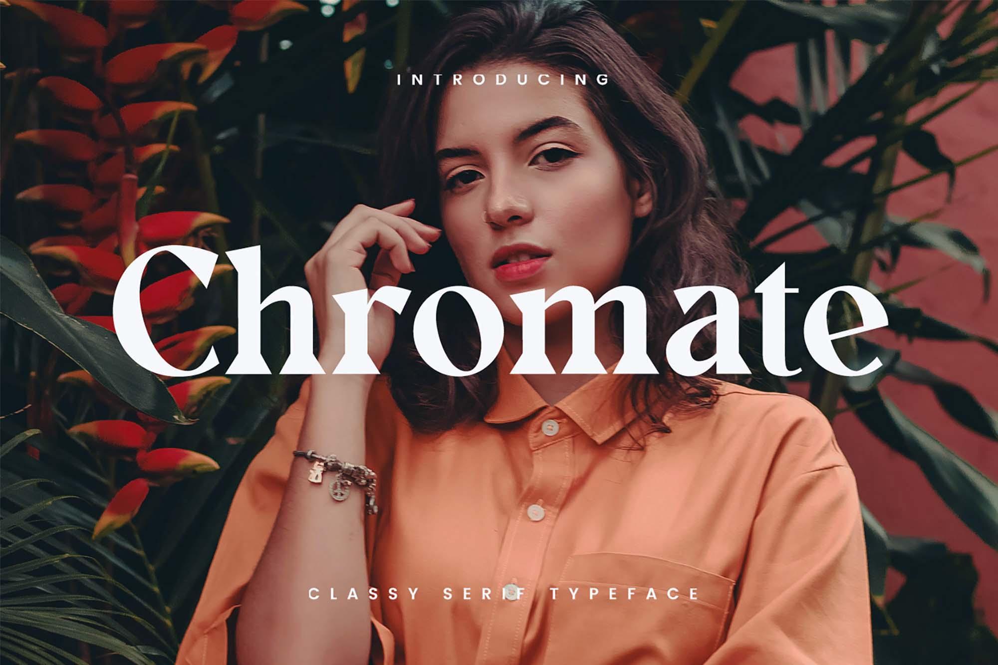 Chromate Typeface