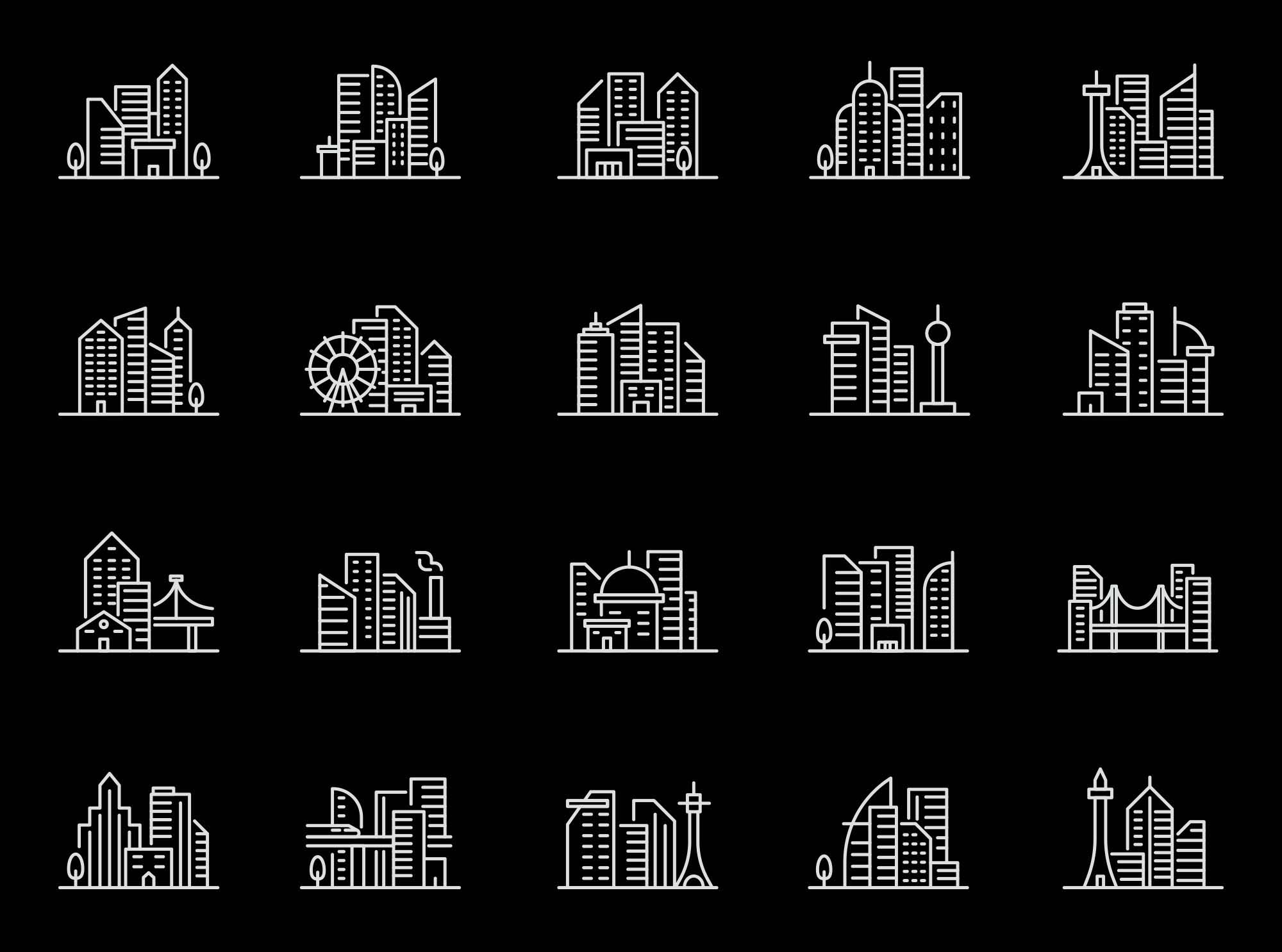 Cityscape Vector Icons 2