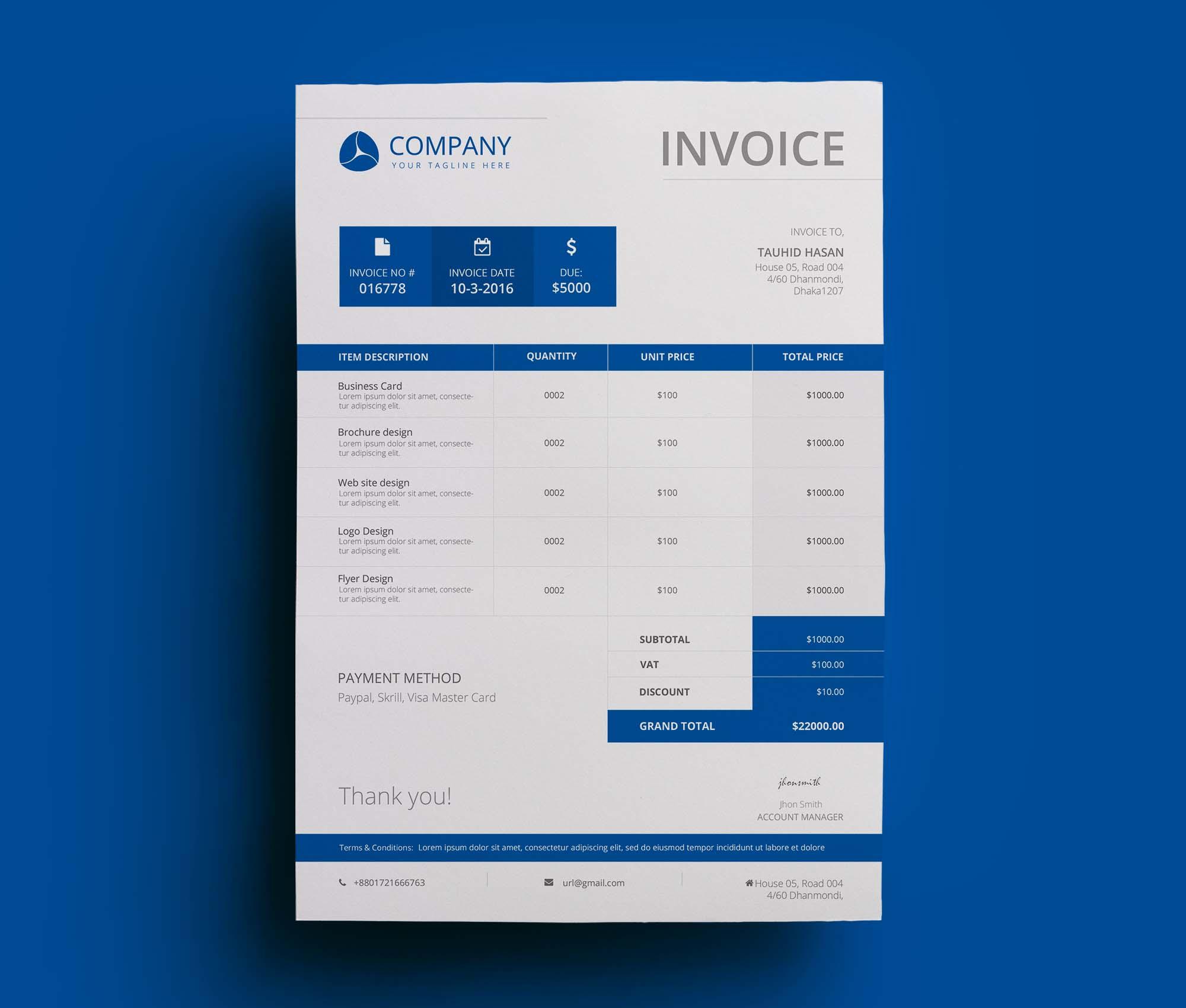 Company Invoice Template 2