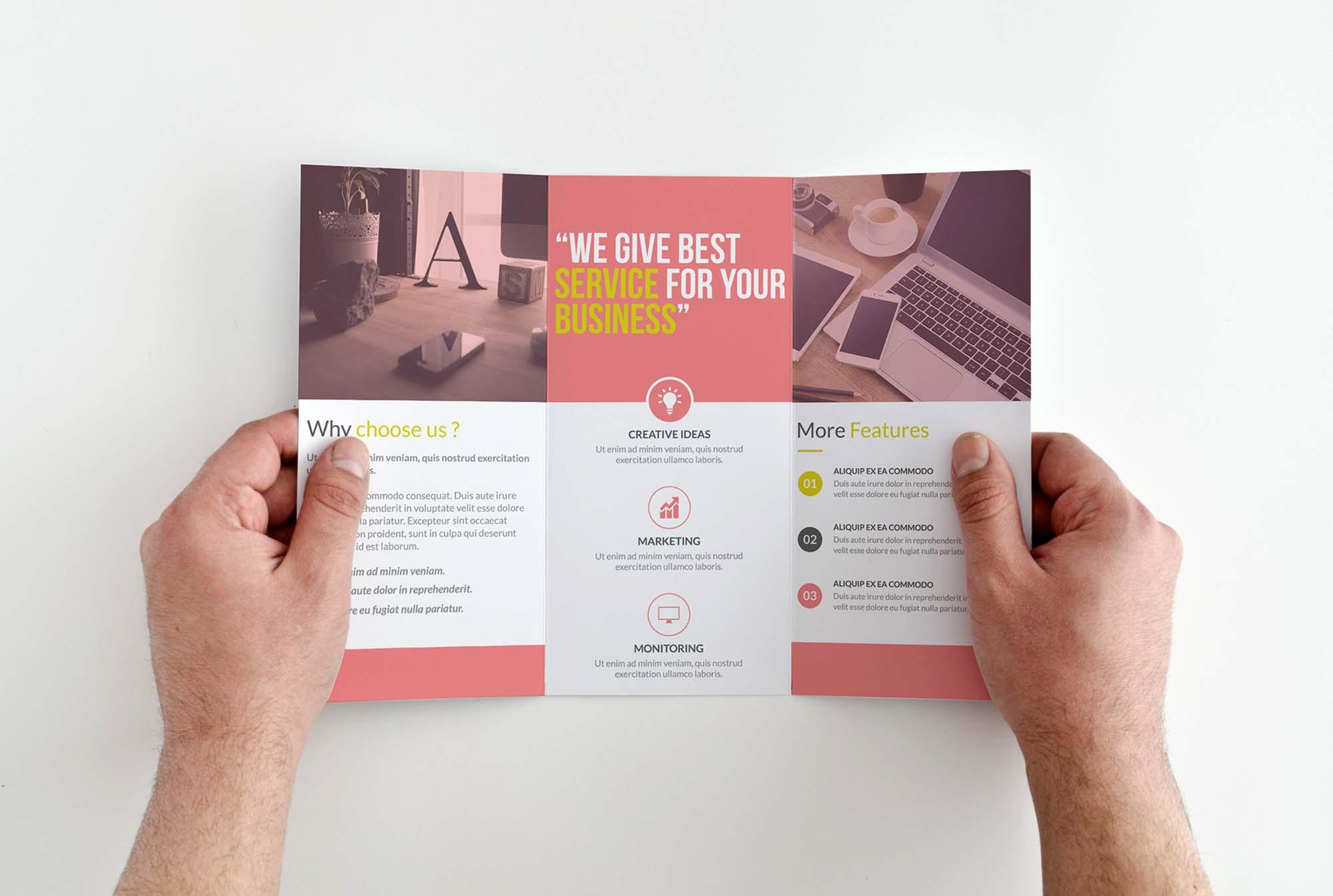 Corporate Trifold Brochure Template 1