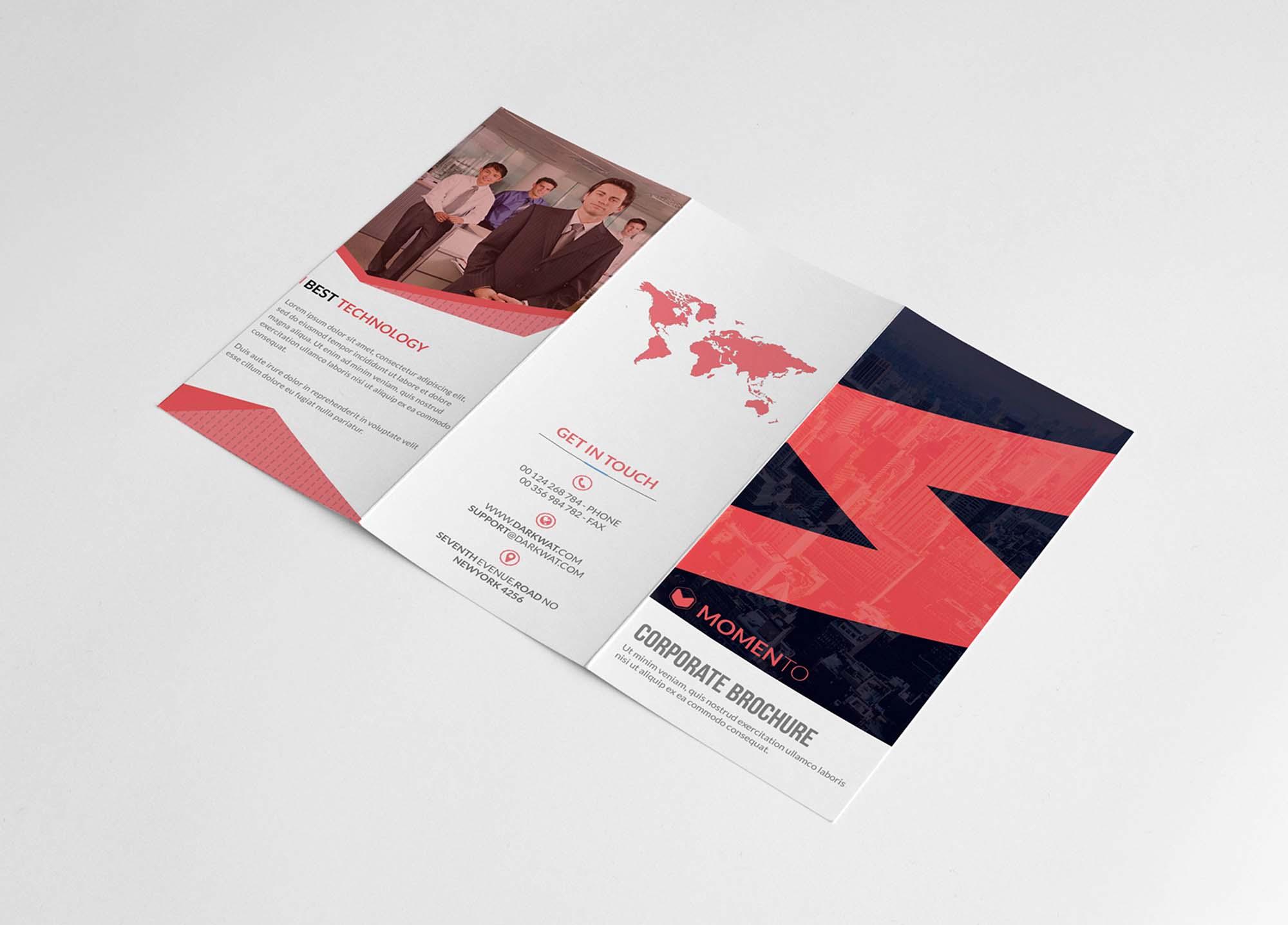 Corporate Trifold Brochure Template 2