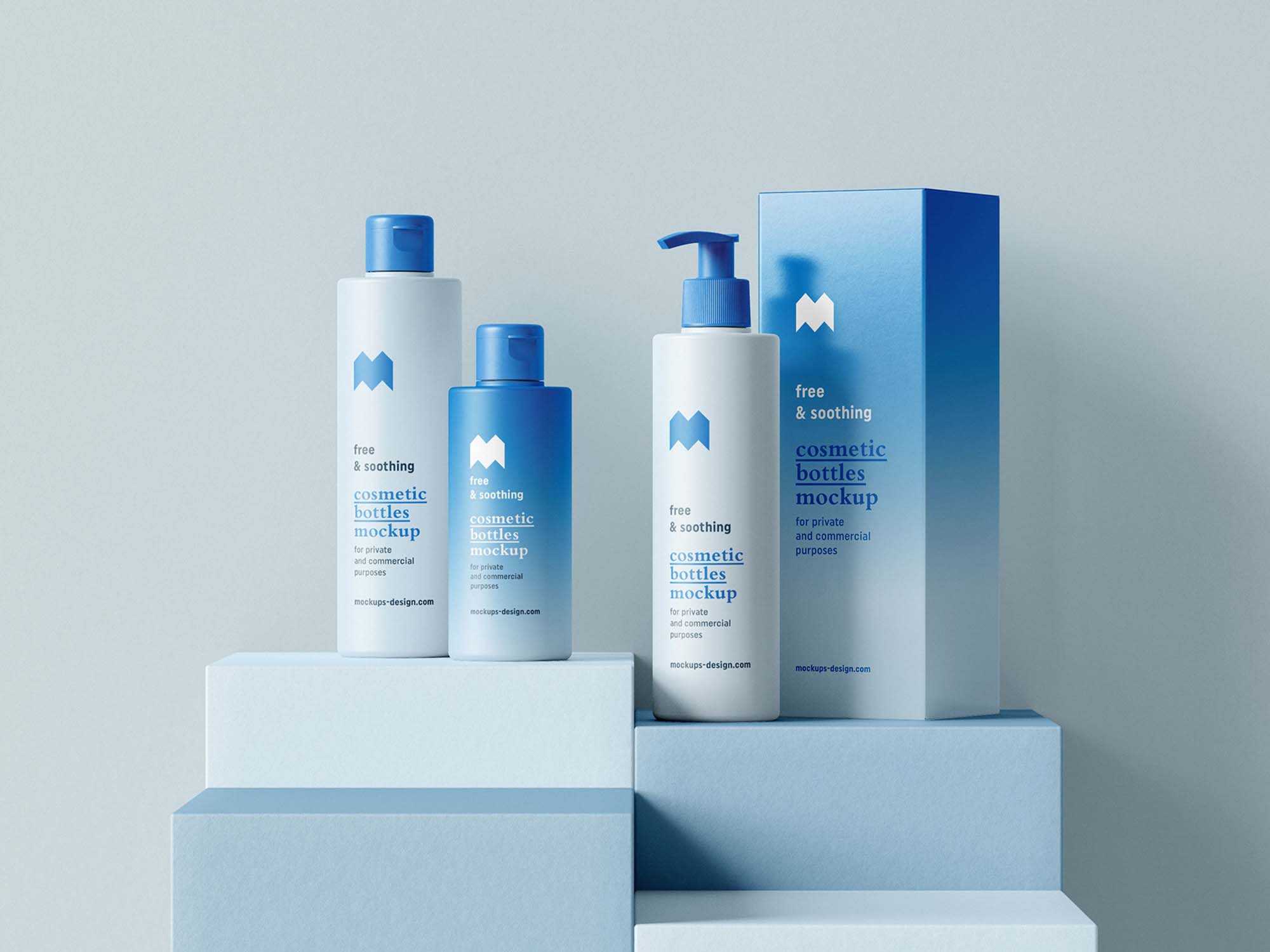 Cosmetic Bottle Package Mockups