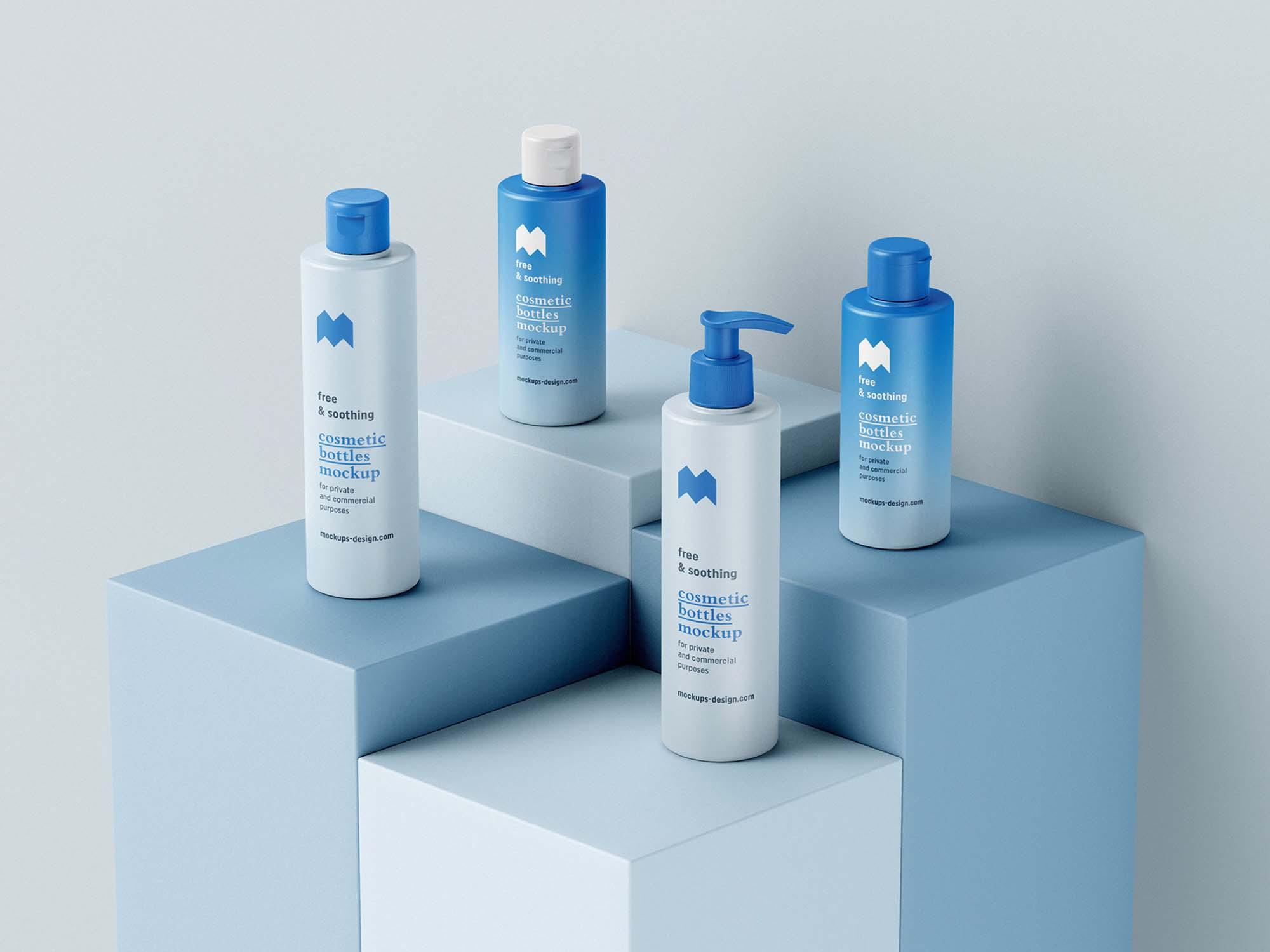 Cosmetic Bottle Package Mockups 2