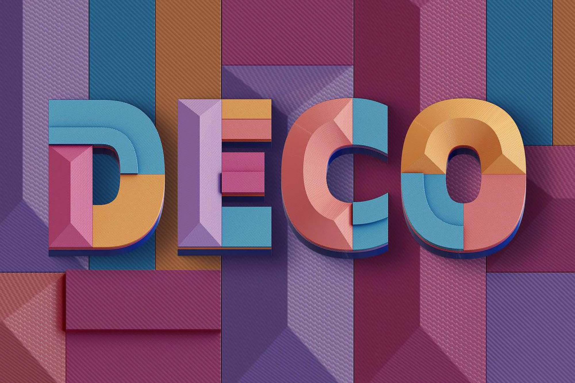 Deco Geometry 3D Lettering 2