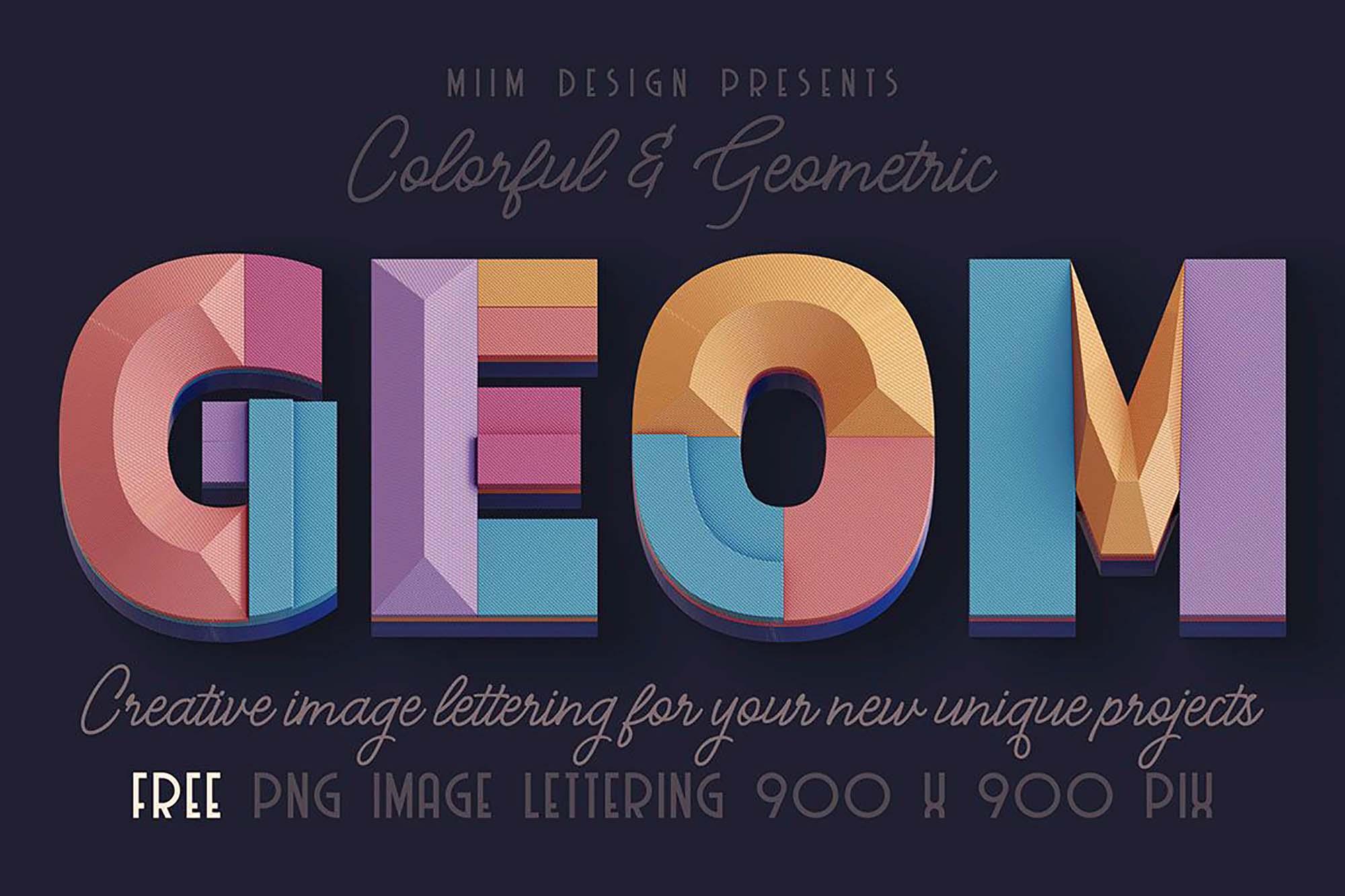 Deco Geometry 3D Lettering
