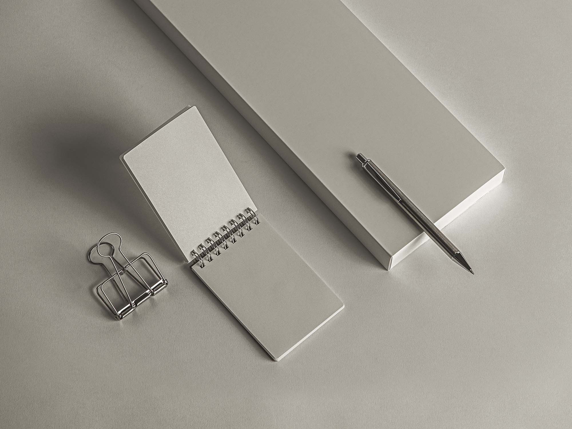 Desk Ringed Notepad Mockup 2