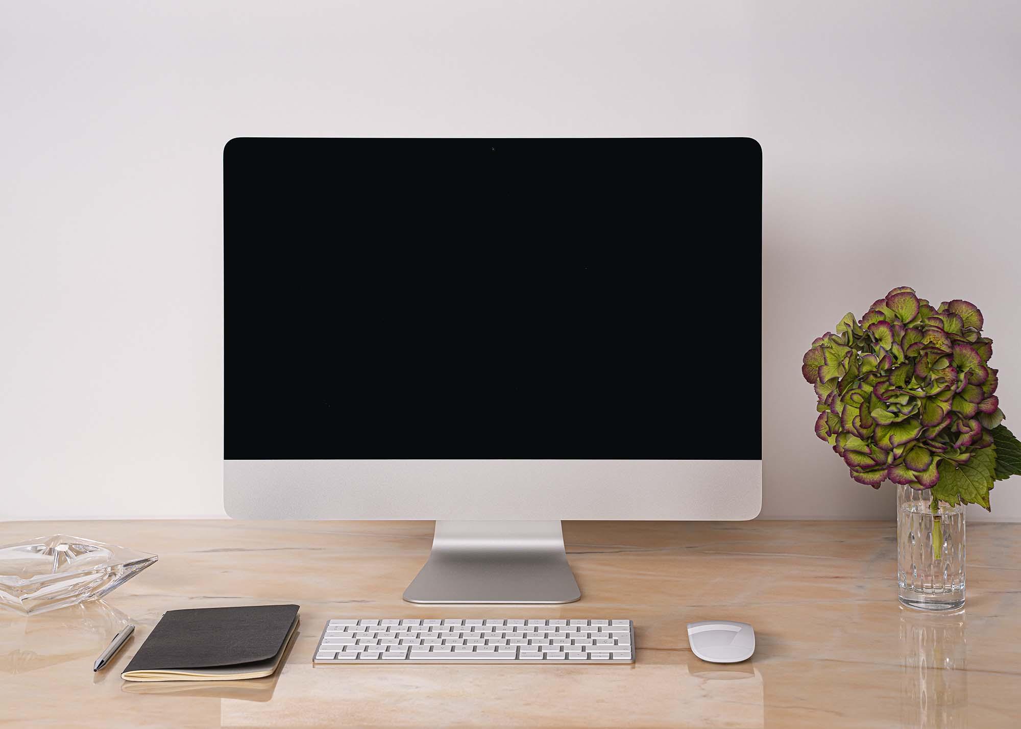 Desk iMac Mockup 2