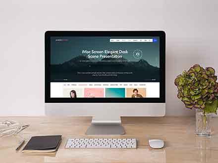Desk iMac Mockup