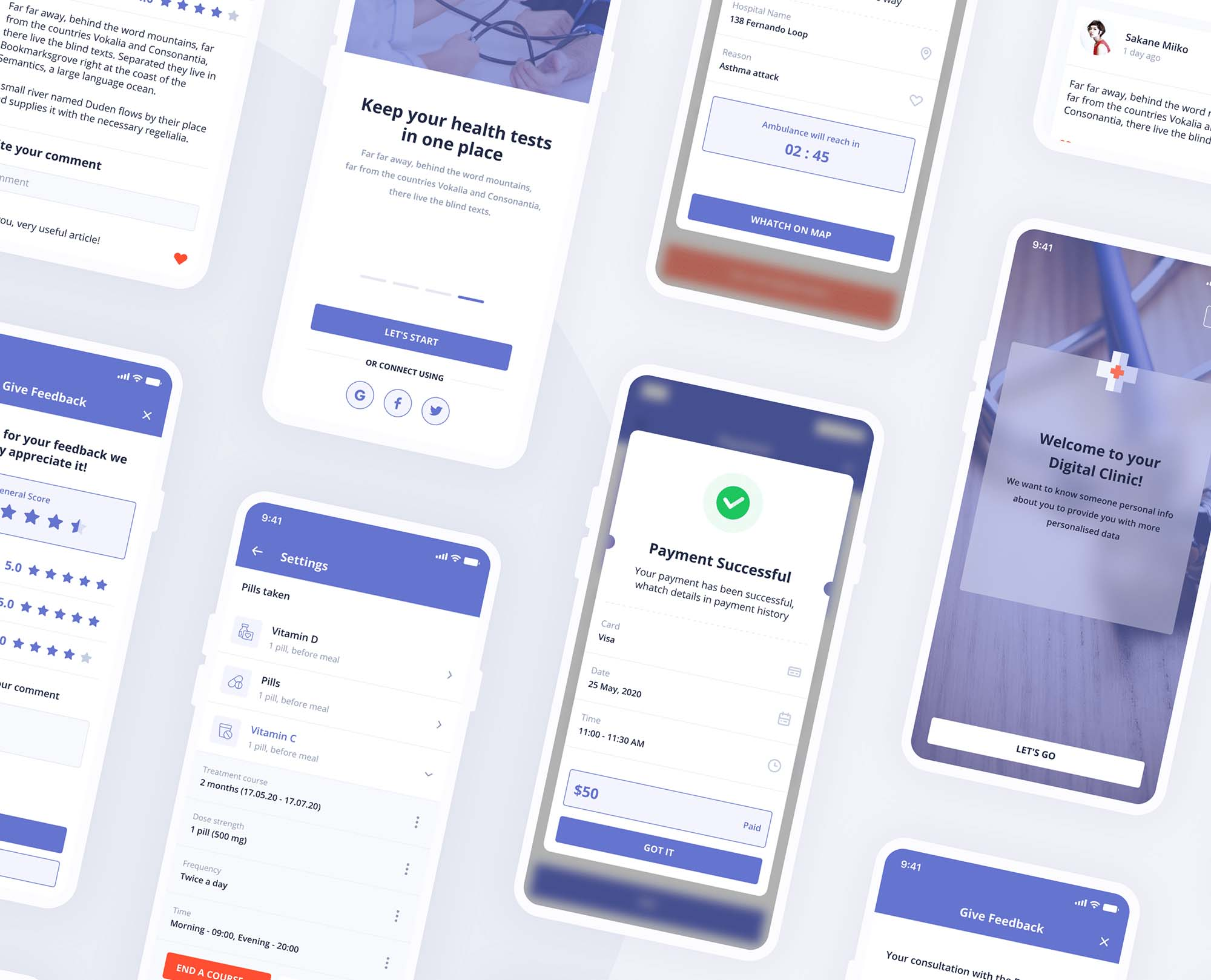 Digital Clinic UI Kit 15