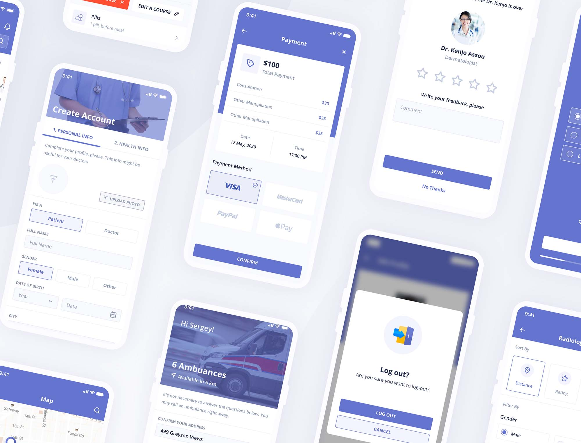 Digital Clinic UI Kit 16