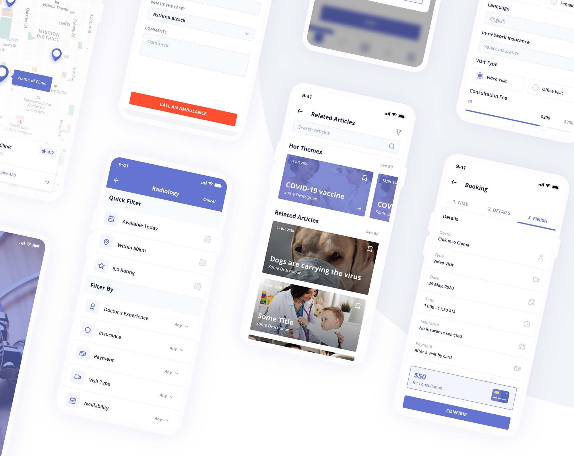 Digital Clinic UI Kit 17