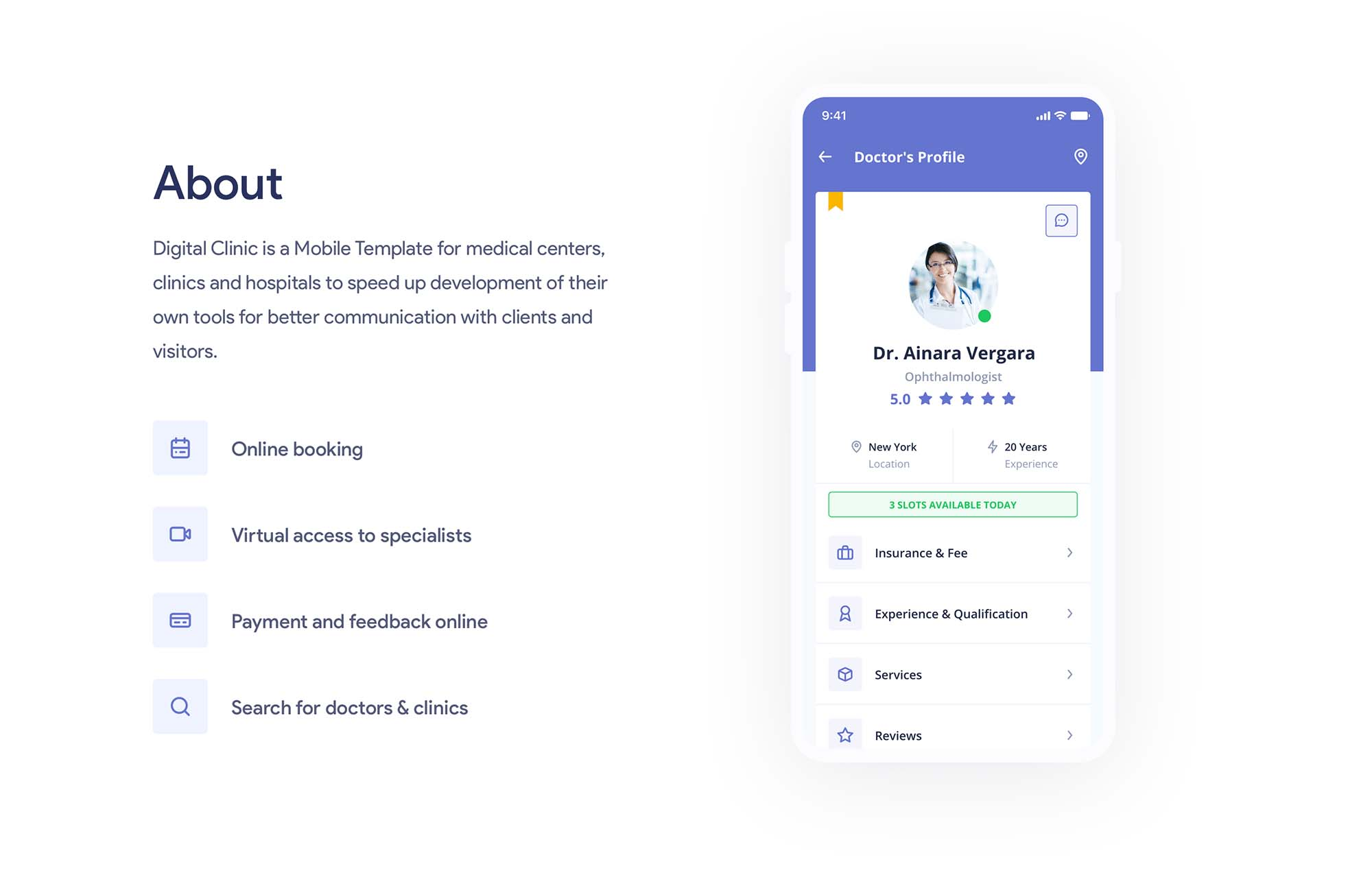 Digital Clinic UI Kit 2