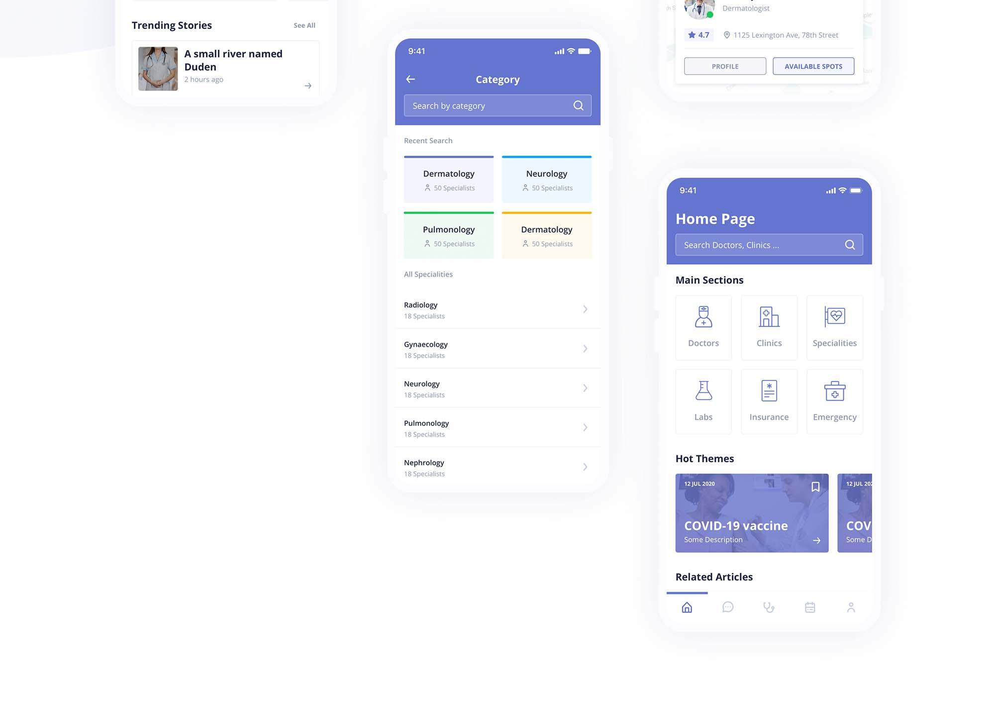 Digital Clinic UI Kit 9