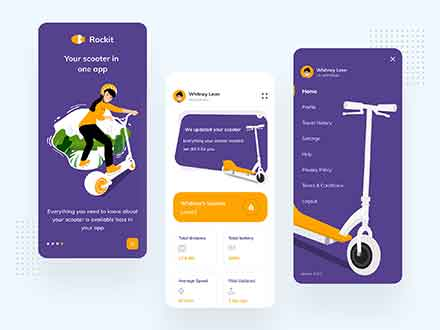 E-Scooter App Dashboard Template