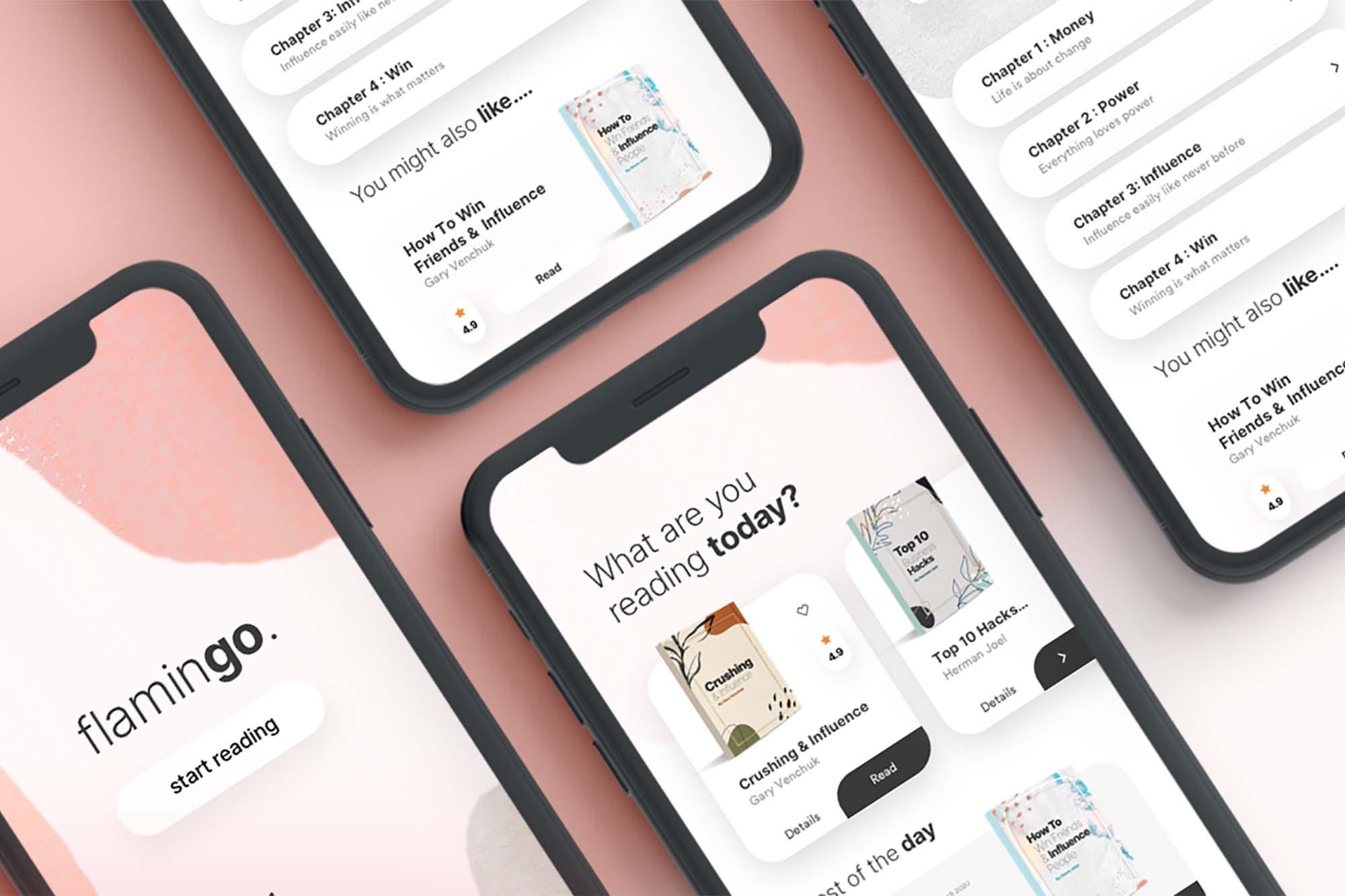 Ebook App UI Template 2