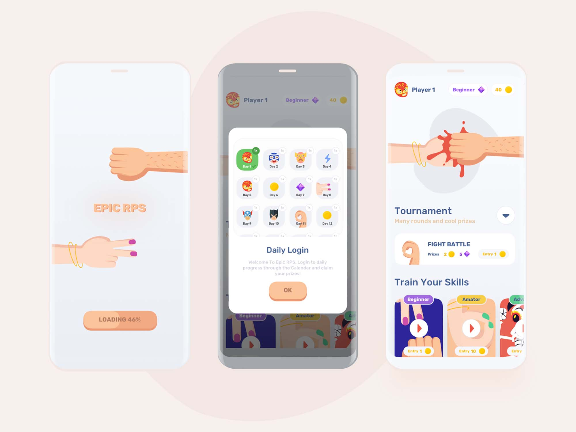 Epic Mobile Game UI Template