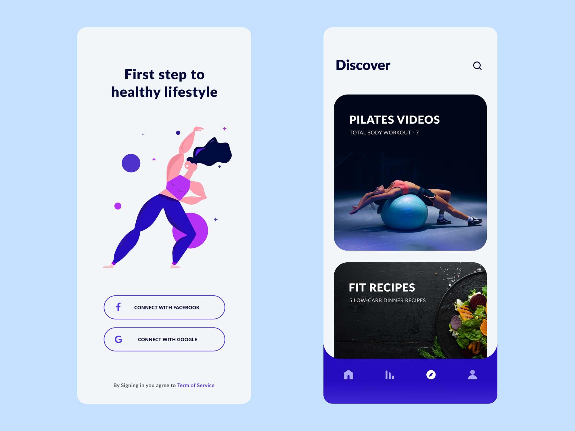 Experimental Health App Template 1