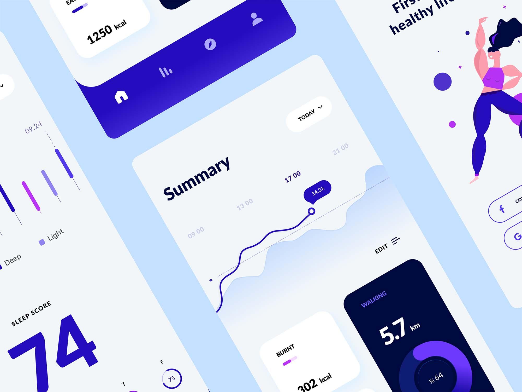 Experimental Health App Template