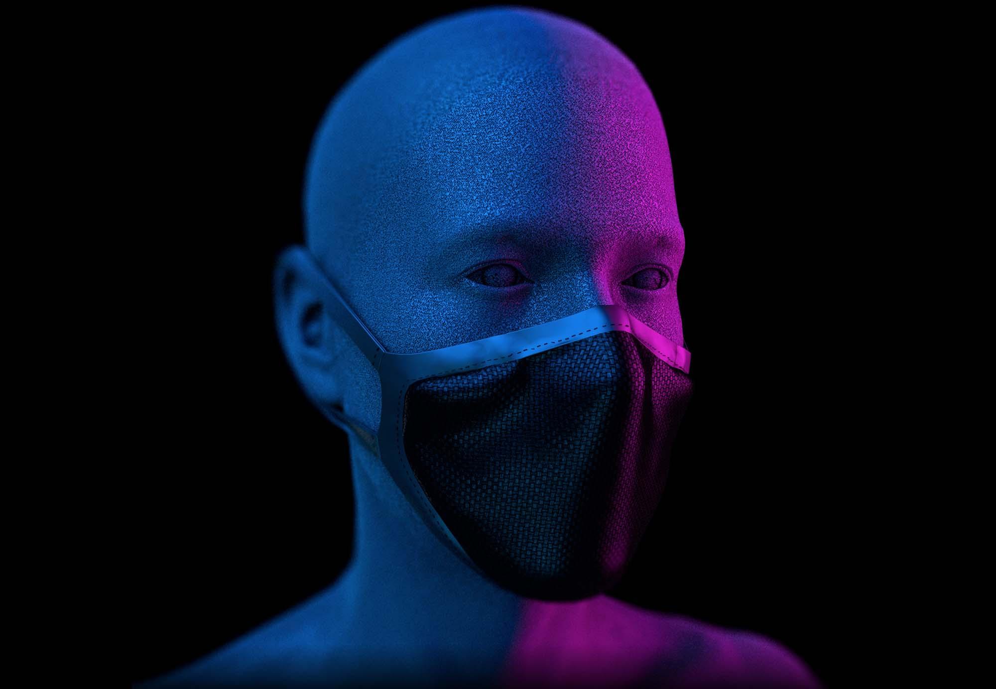 Face Mask Mockup 4