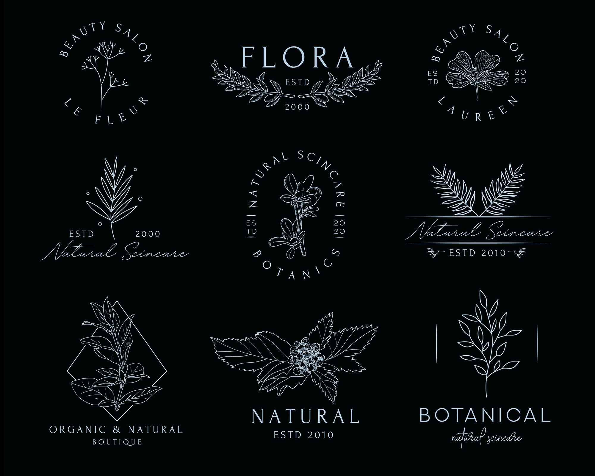 Floral Logo Templates 2