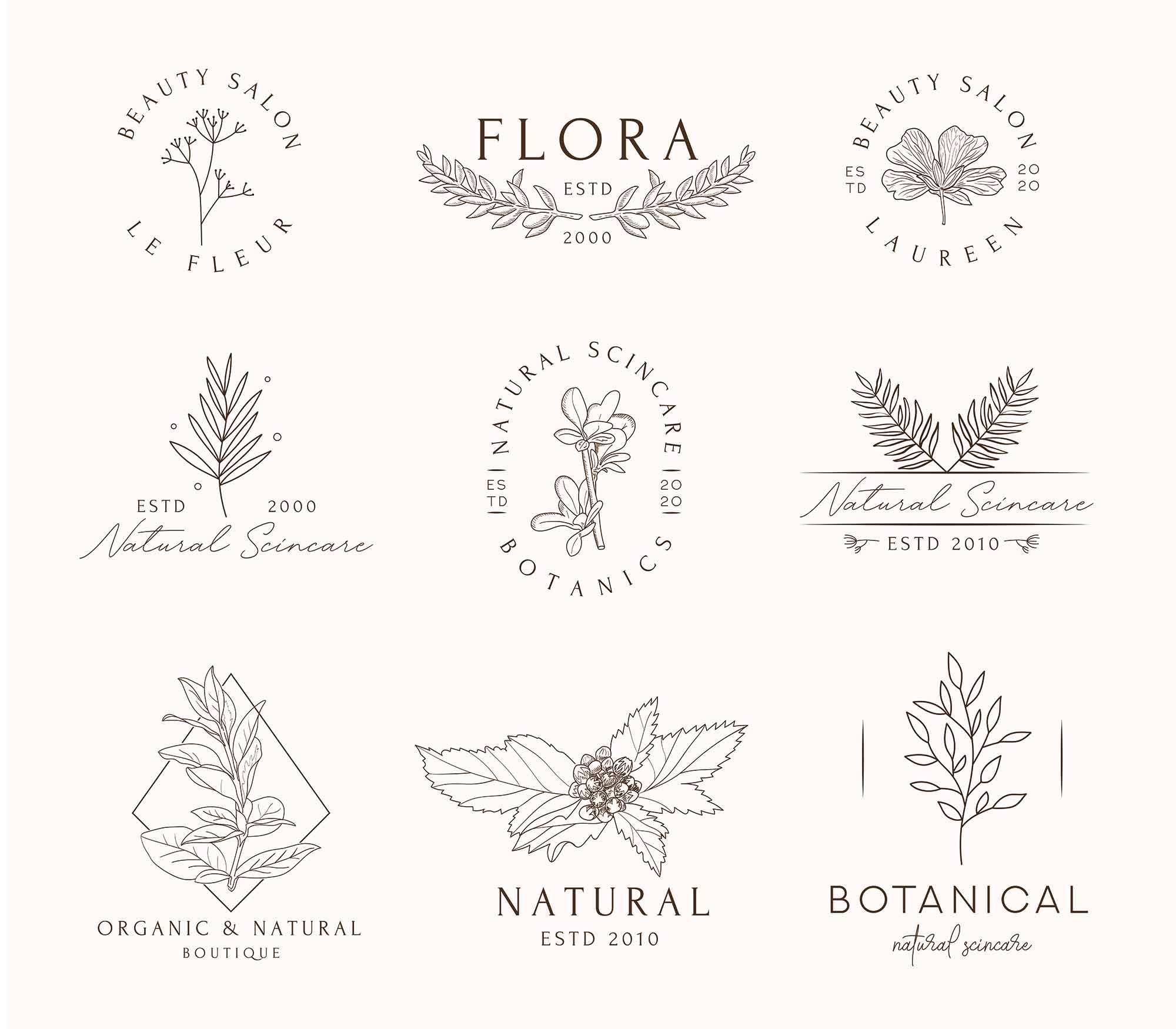 Floral Logo Templates