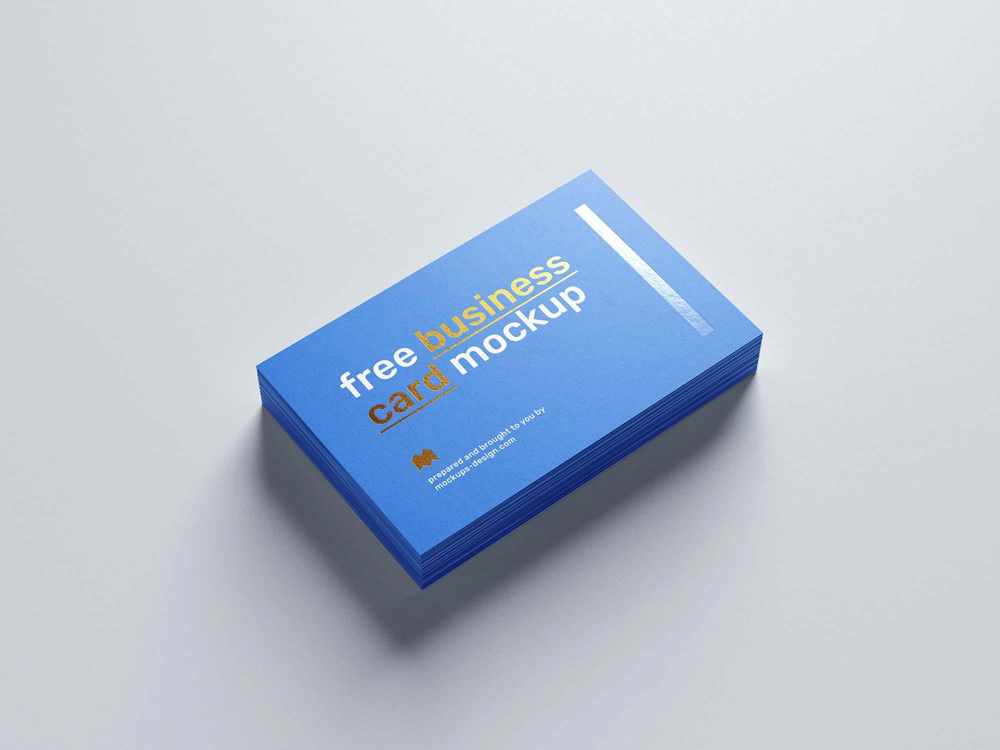 Foil Business Card Mockup 2