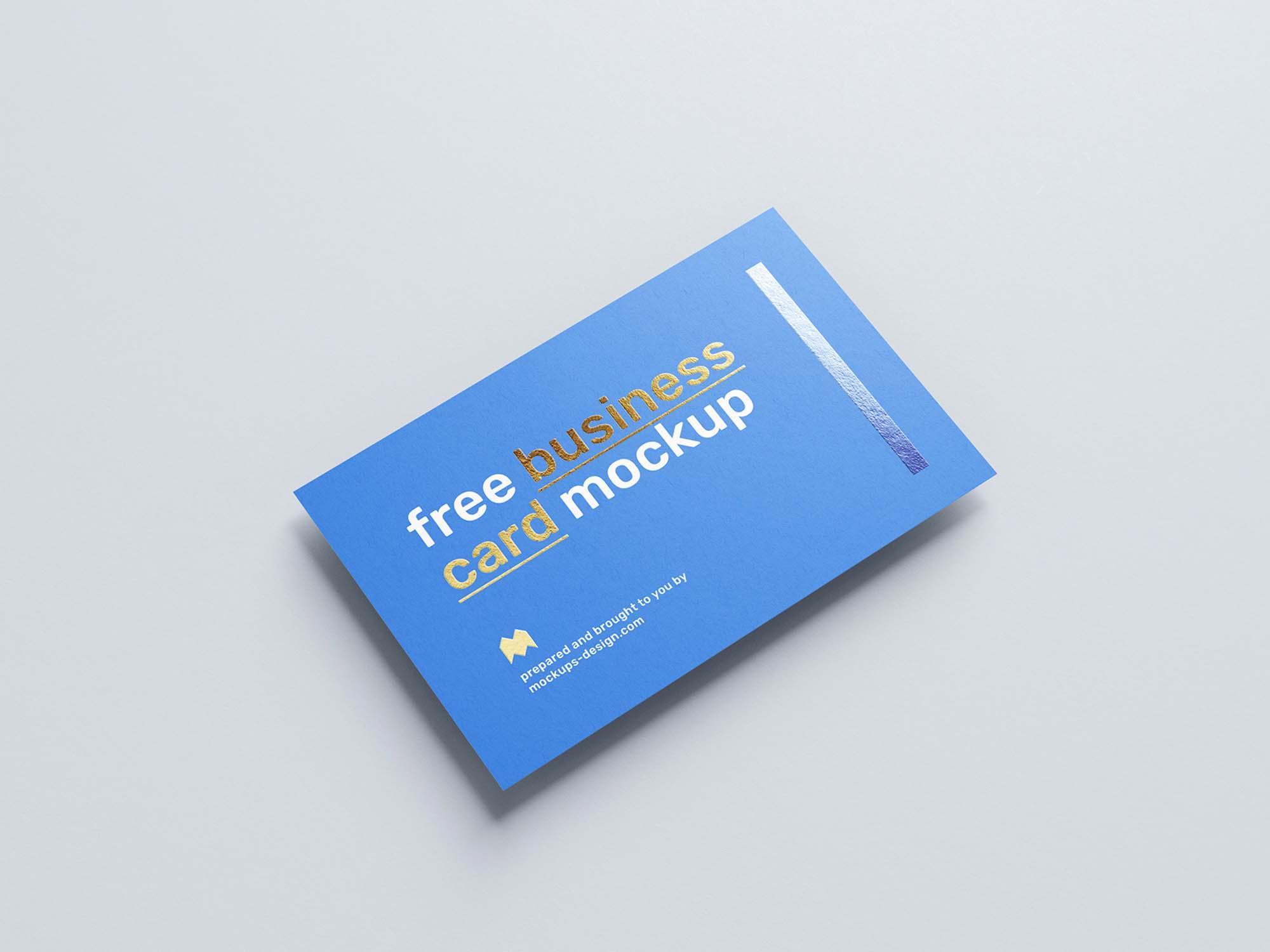 Foil Business Card Mockup 4
