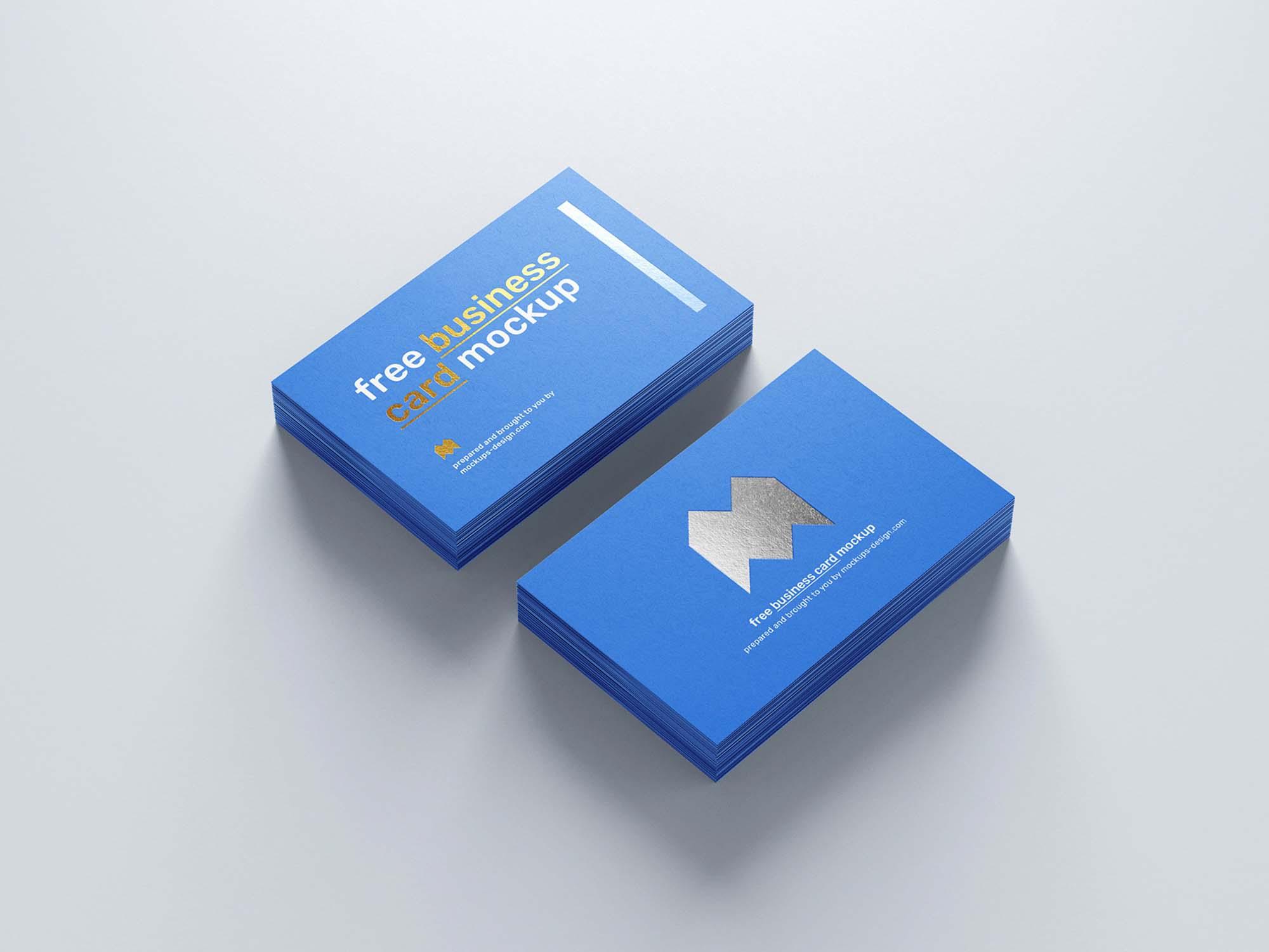 Foil Business Card Mockup 1