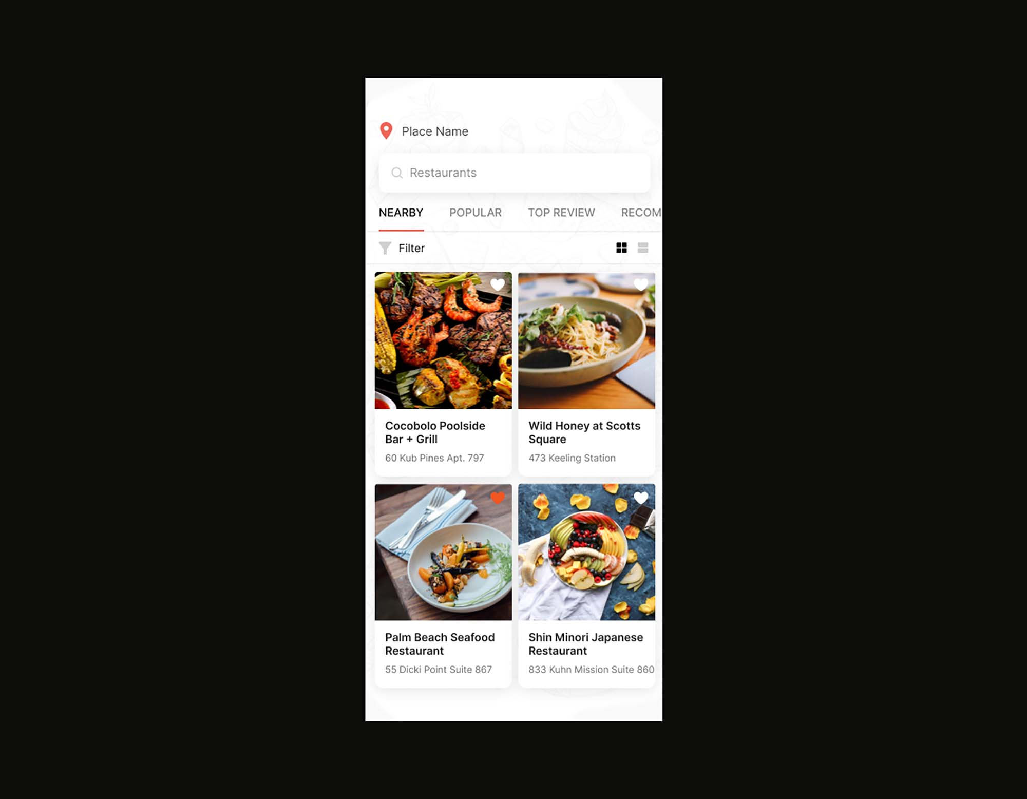 Food Delivery Restaurant App Template 2