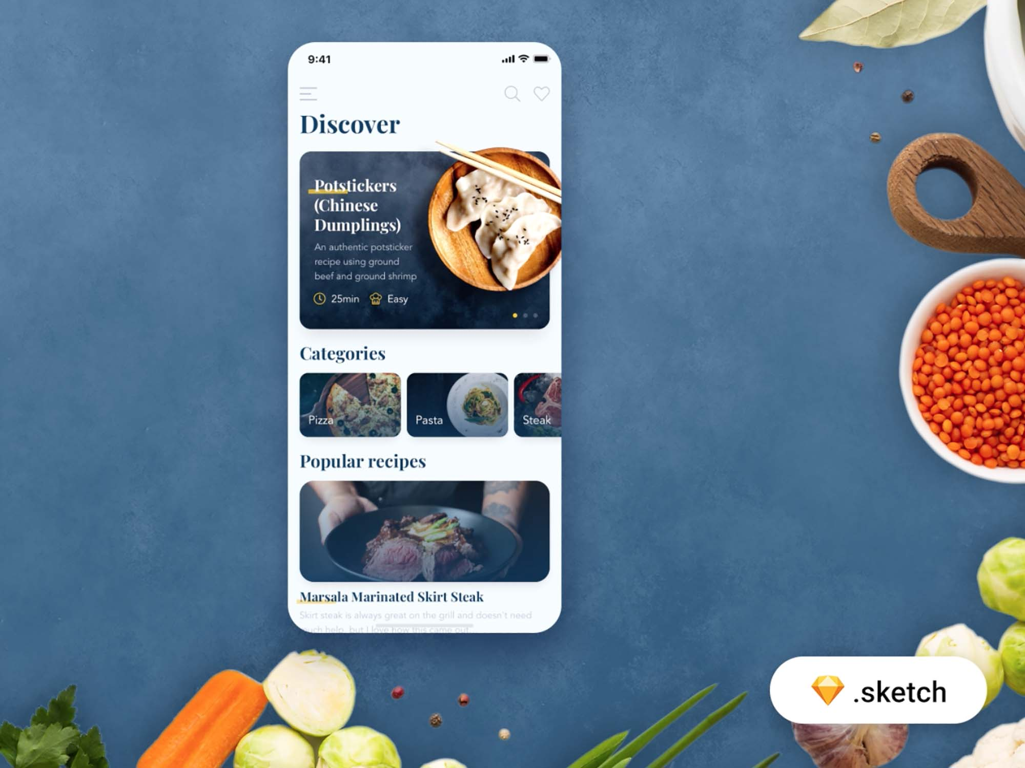 Food Recipes App Template 3