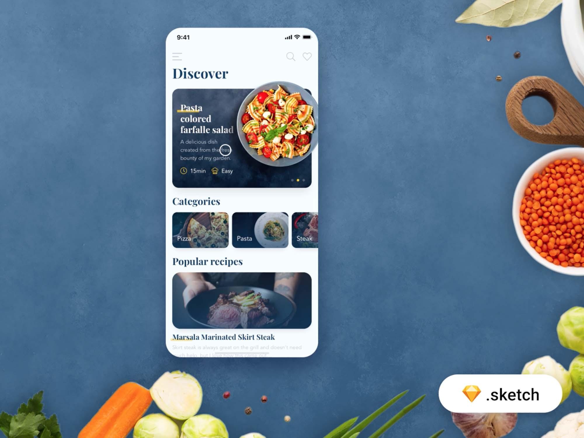 Food Recipes App Template 4