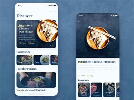 Food Recipes App Template