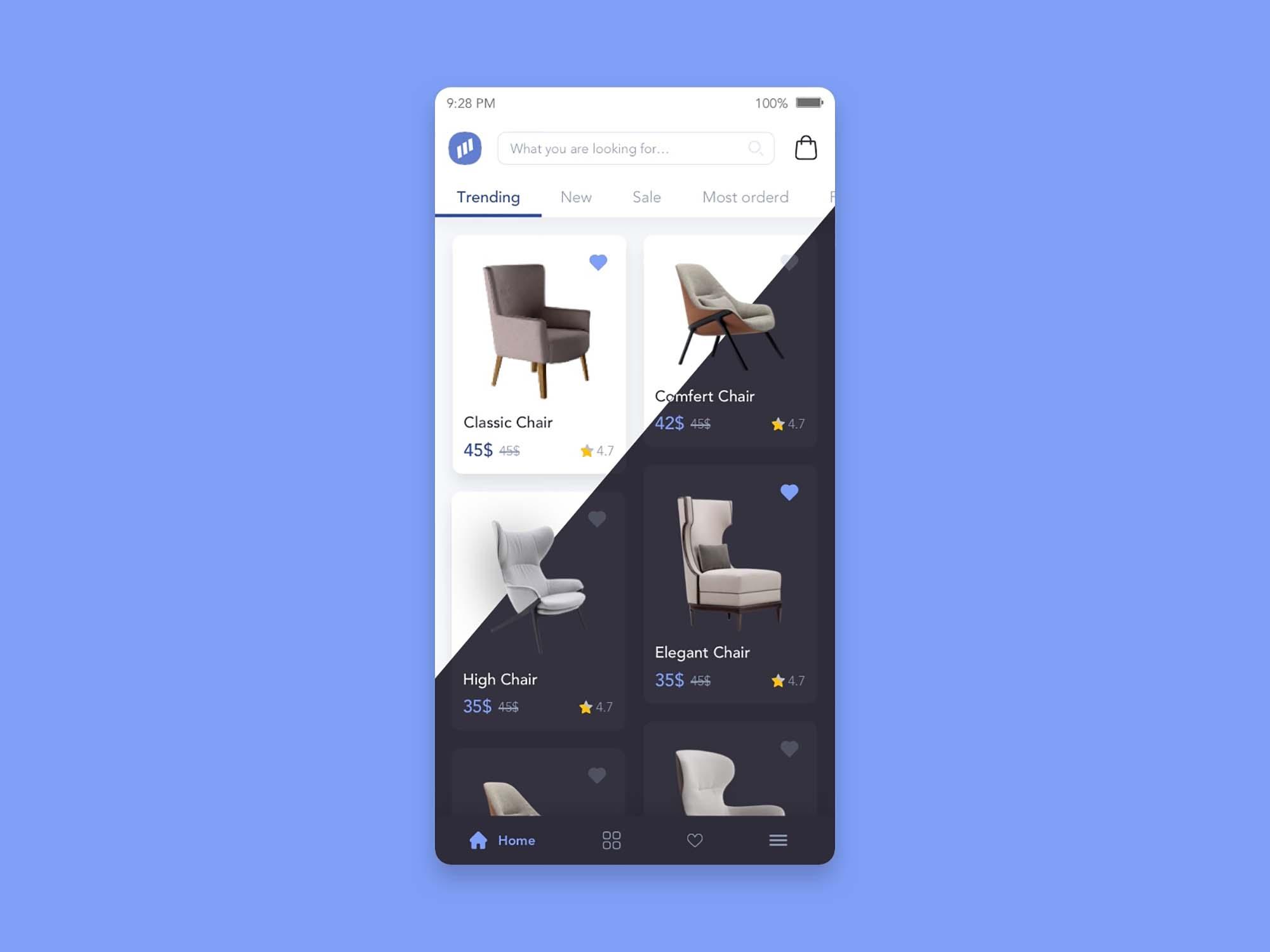 Furniture Store App UI Template