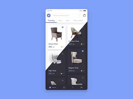 Furniture Store App UI Template