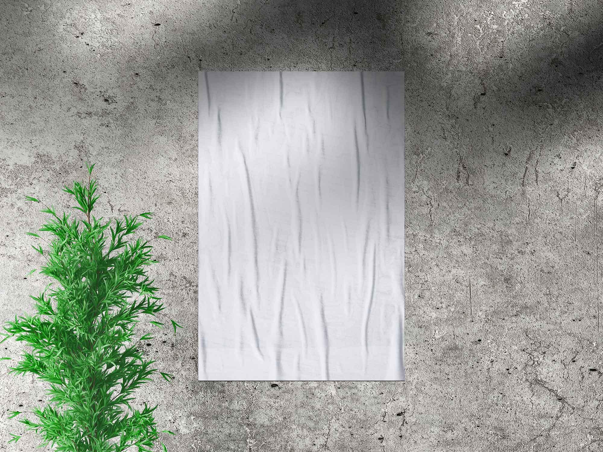 Glued Paper Poster Mockup 2