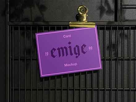 Hanged Card Mockup