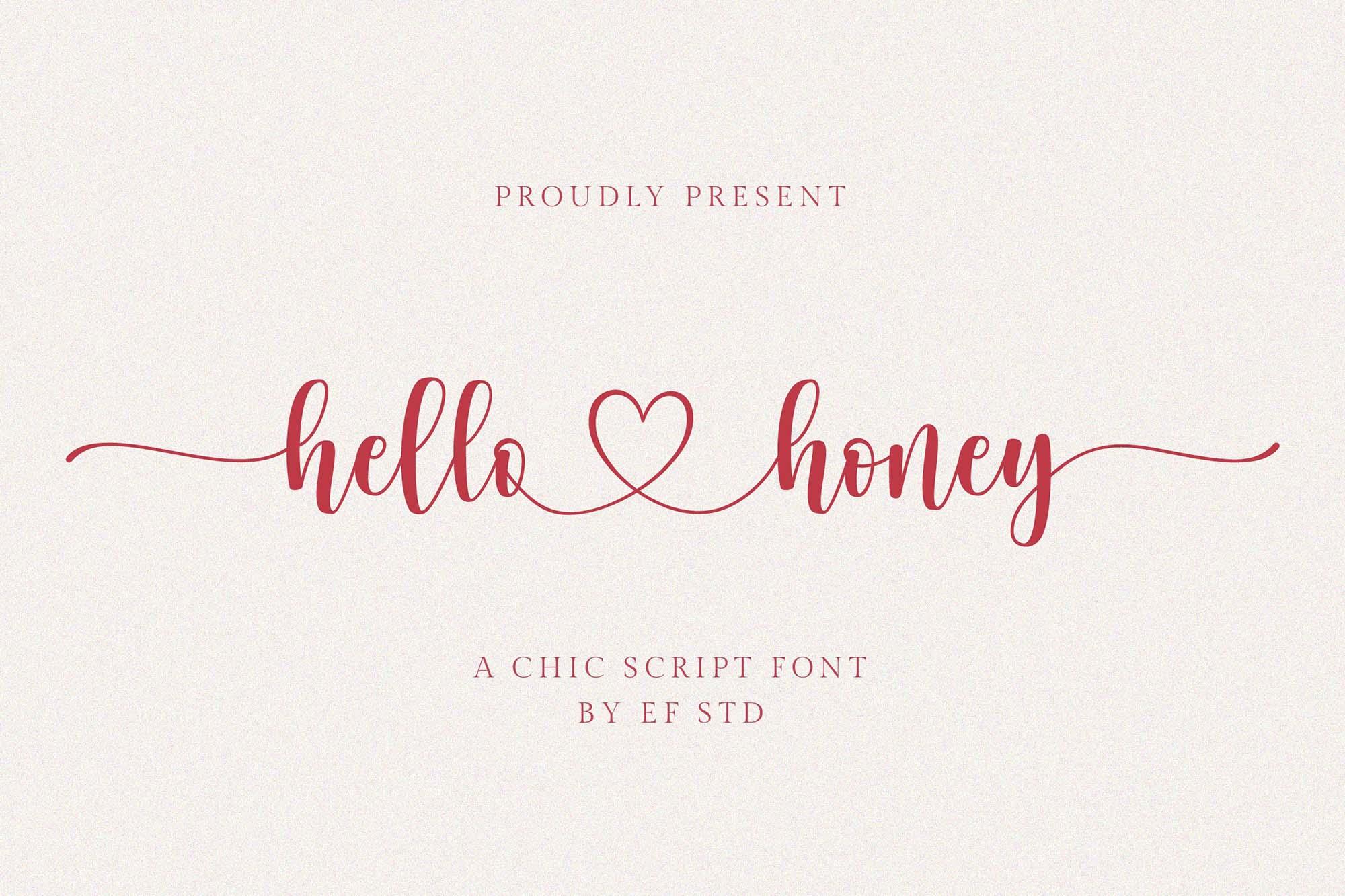 Hello Honey Script Font