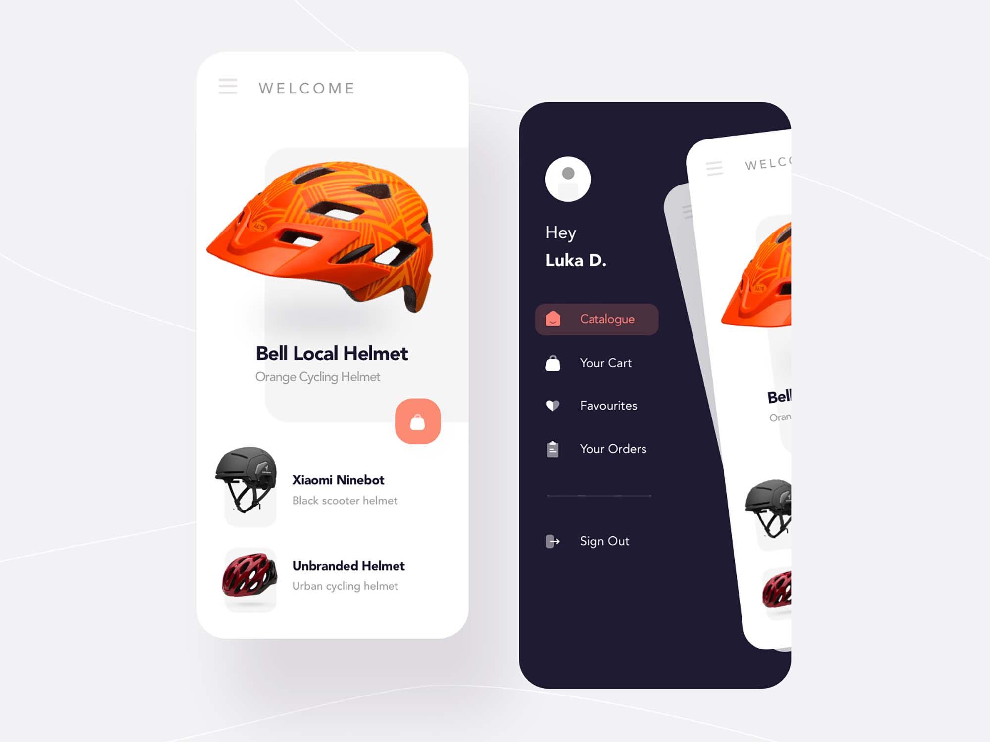 Helmet Shopping App Template